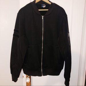 H&M black Men Jacket with Velcro detailing Large